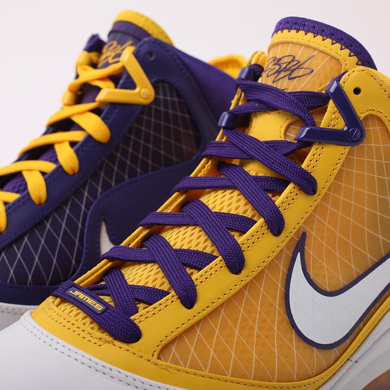 мужские жёлтые, фиолетовые  кроссовки nike lebron vii qs CW2300-500 - цена, описание, фото 9