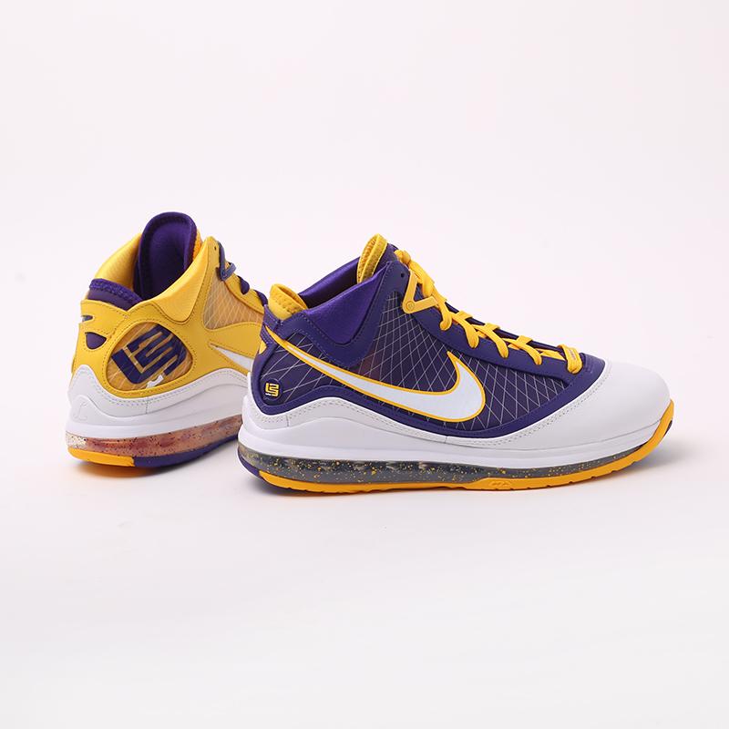 мужские жёлтые, фиолетовые  кроссовки nike lebron vii qs CW2300-500 - цена, описание, фото 2