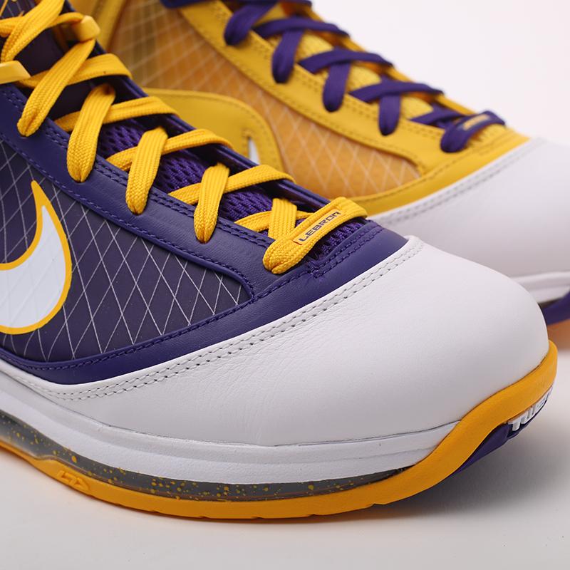 мужские жёлтые, фиолетовые  кроссовки nike lebron vii qs CW2300-500 - цена, описание, фото 7