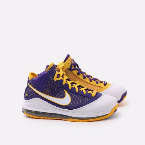 мужские жёлтые, фиолетовые  кроссовки nike lebron vii qs CW2300-500 - цена, описание, фото 1