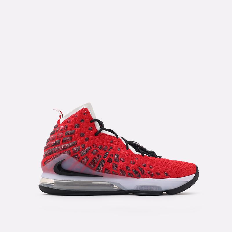 красные  кроссовки nike lebron xvii BQ3177-601 - цена, описание, фото 1
