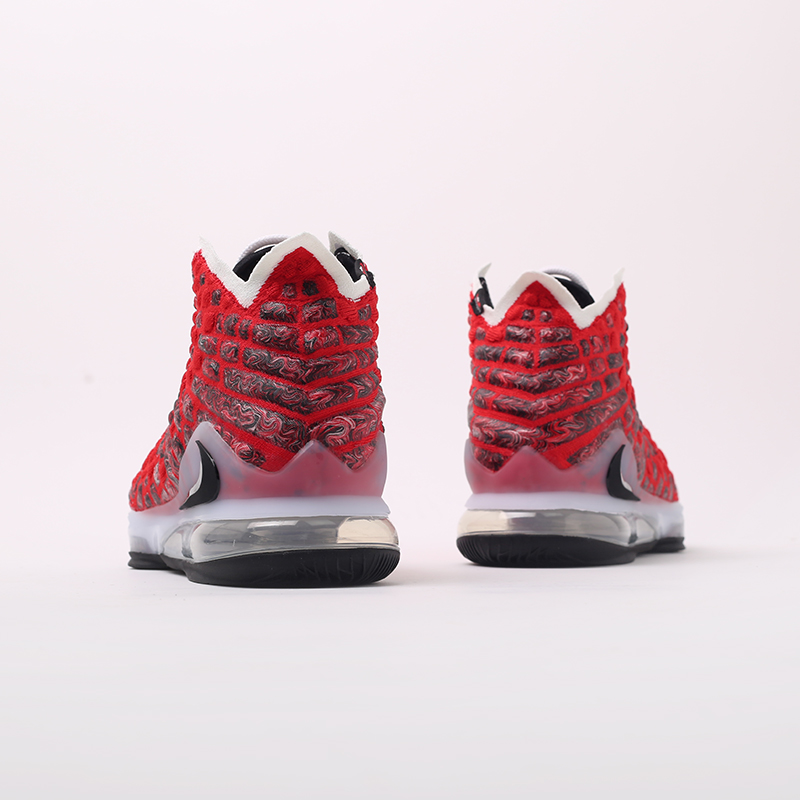 красные  кроссовки nike lebron xvii BQ3177-601 - цена, описание, фото 4