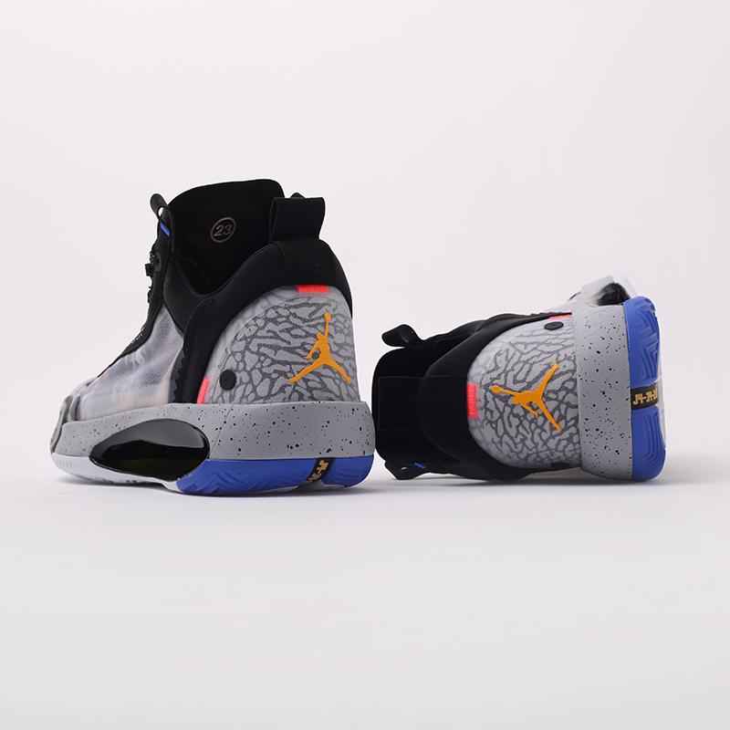 мужские чёрные  кроссовки jordan xxxiv low ep CZ7745-008 - цена, описание, фото 7