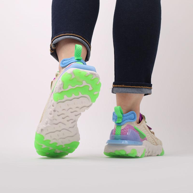 женские бежевые  кроссовки nike wmns nsw react vision CI7523-200 - цена, описание, фото 9