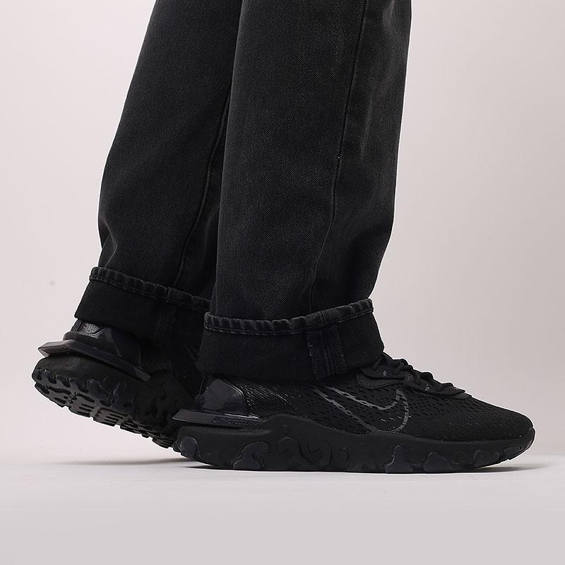 мужские черные  кроссовки nike react vision CD4373-004 - цена, описание, фото 8