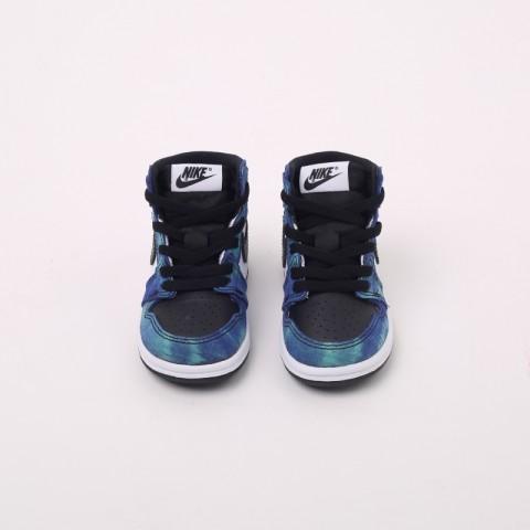 детские синие, чёрные  кроссовки jordan 1 high og (td) CU0450-100 - цена, описание, фото 3