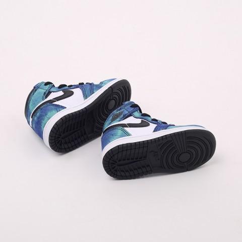 детские синие, чёрные  кроссовки jordan 1 high og (td) CU0450-100 - цена, описание, фото 4