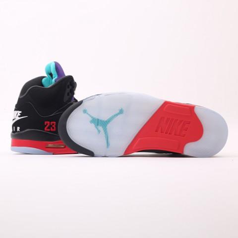 мужские чёрные  кроссовки jordan 5 retro CZ1786-001 - цена, описание, фото 9