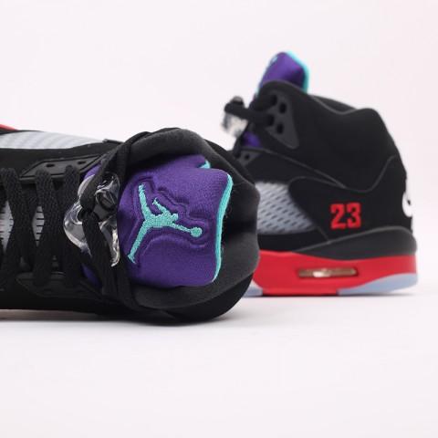 мужские чёрные  кроссовки jordan 5 retro CZ1786-001 - цена, описание, фото 6