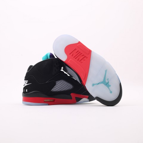 мужские чёрные  кроссовки jordan 5 retro CZ1786-001 - цена, описание, фото 7