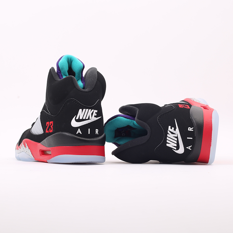 мужские чёрные  кроссовки jordan 5 retro CZ1786-001 - цена, описание, фото 4
