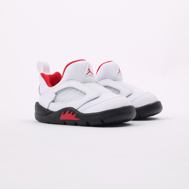детские белые  кроссовки jordan 5 retro little flex td CK1228-100 - цена, описание, фото 2