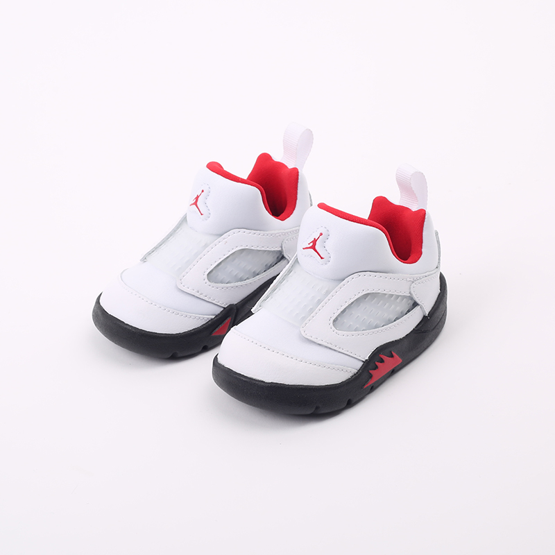 детские белые  кроссовки jordan 5 retro little flex td CK1228-100 - цена, описание, фото 4