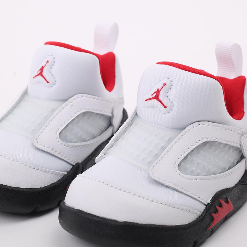 детские белые  кроссовки jordan 5 retro little flex td CK1228-100 - цена, описание, фото 5