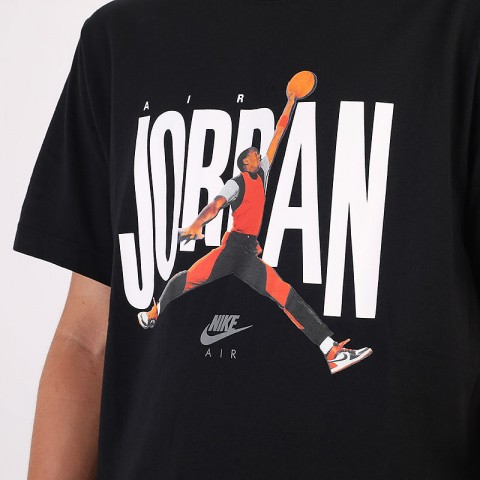 черную  футболка jordan short-sleeve crew CJ6304-010 - цена, описание, фото 2