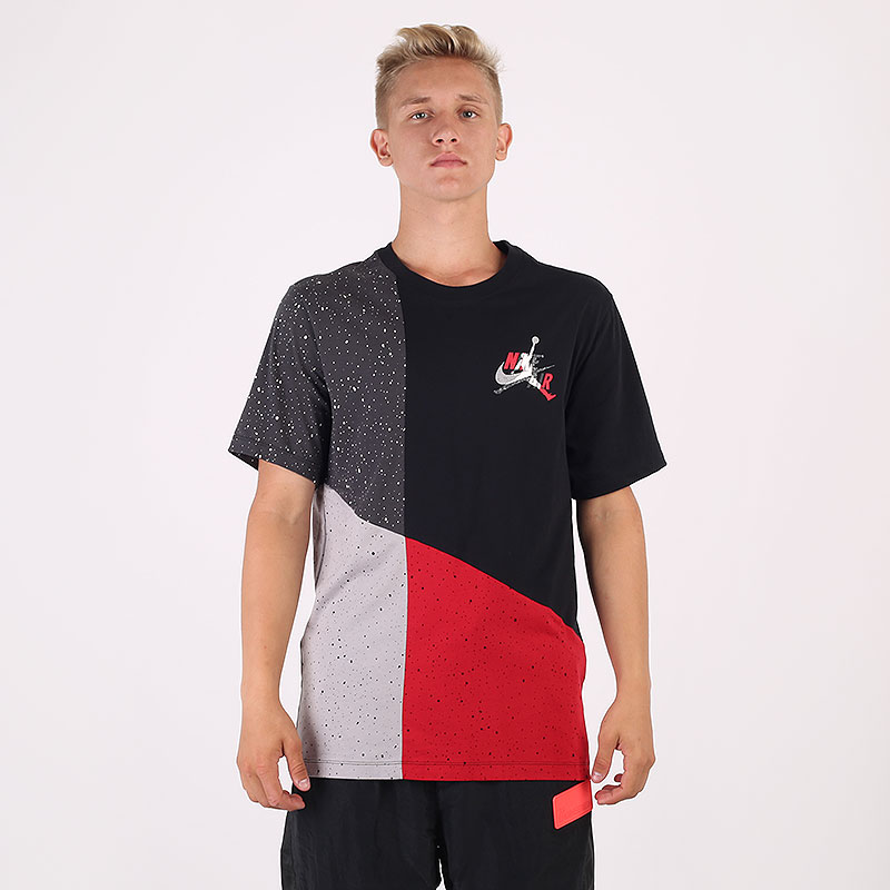разноцветную  футболка jordan jumpman classics mash-up t-shirt CU4560-010 - цена, описание, фото 1