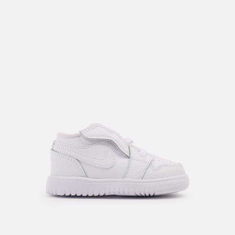 детские белые  кроссовки jordan 1 low alt (td) CI3436-130 - цена, описание, фото 1