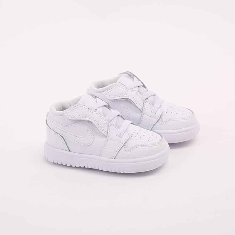 детские белые  кроссовки jordan 1 low alt (td) CI3436-130 - цена, описание, фото 2
