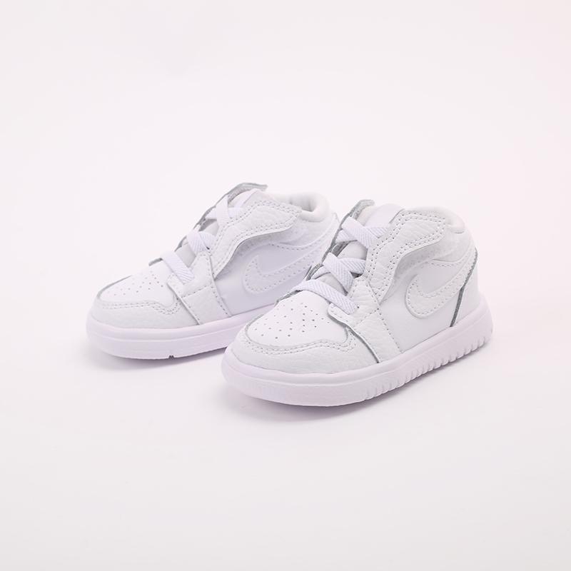 детские белые  кроссовки jordan 1 low alt (td) CI3436-130 - цена, описание, фото 6