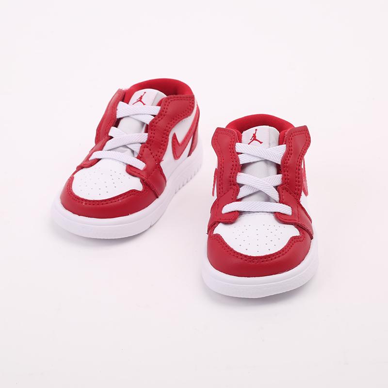 детские красные  кроссовки jordan 1 low alt (td) CI3436-611 - цена, описание, фото 4