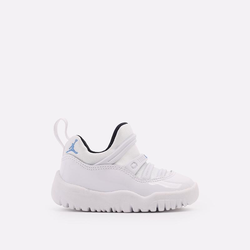 детские белые  кроссовки jordan 11 retro little flex td BQ7102-117 - цена, описание, фото 1