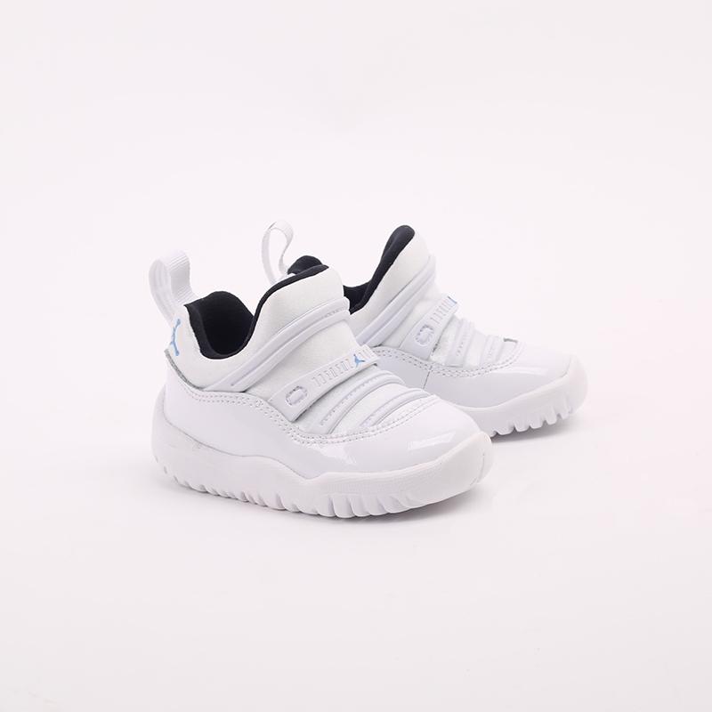 детские белые  кроссовки jordan 11 retro little flex td BQ7102-117 - цена, описание, фото 2