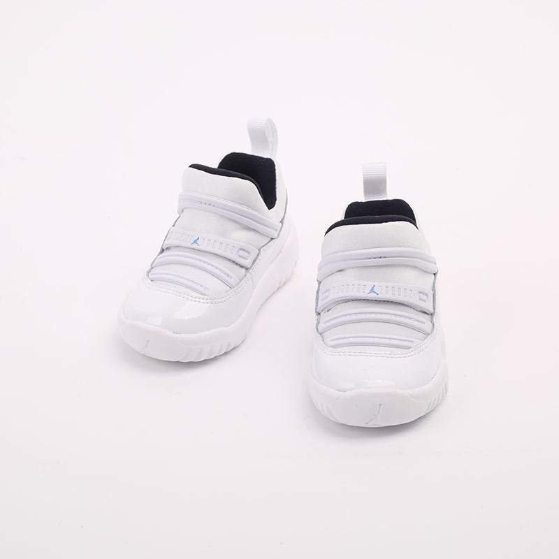 детские белые  кроссовки jordan 11 retro little flex td BQ7102-117 - цена, описание, фото 3