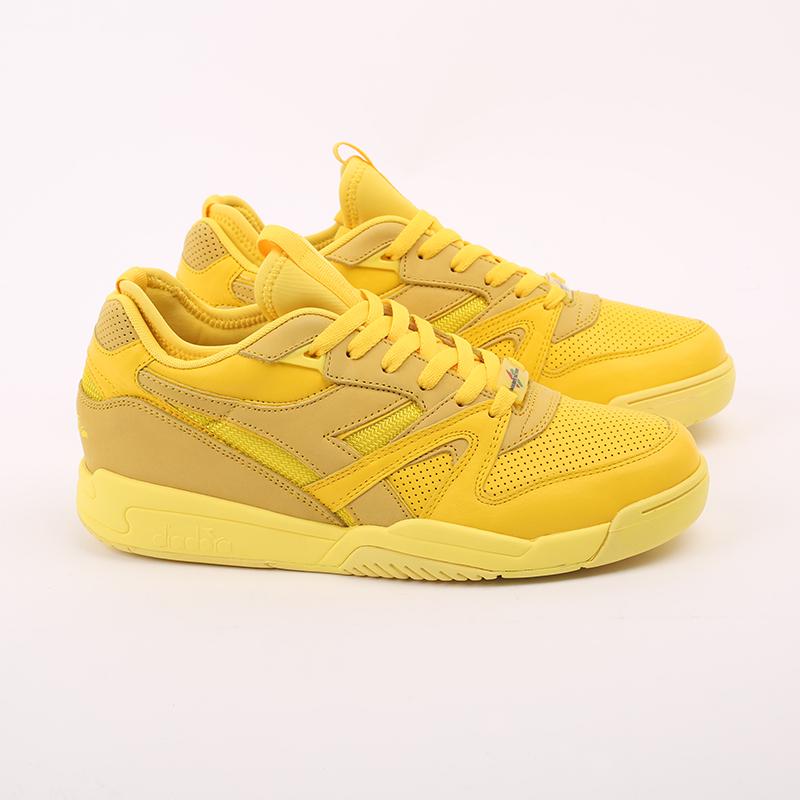 мужские жёлтые  кроссовки diadora d.elite paura DR501176392-yellow utilit - цена, описание, фото 2