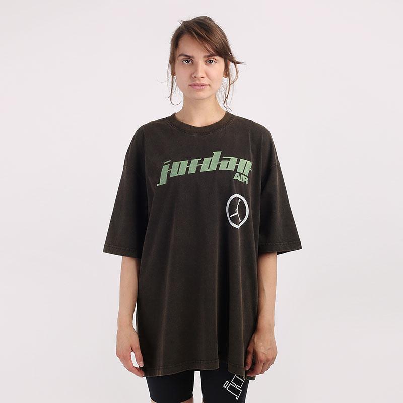 коричневую  футболка jordan moto oversized t-shirt CW2204-010 - цена, описание, фото 1