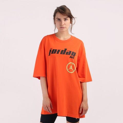 оранжевую  футболка jordan moto oversized t-shirt CW2204-891 - цена, описание, фото 1
