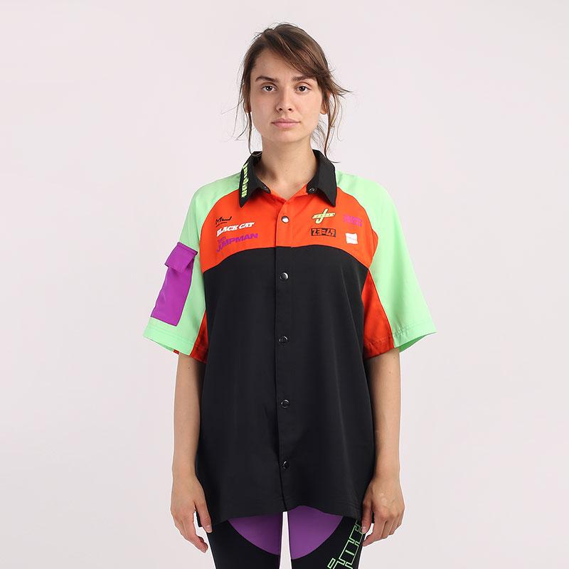 женскую разноцветную  рубашку jordan moto short-sleeve top CV7558-010 - цена, описание, фото 1