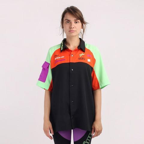 разноцветную  рубашку jordan moto short-sleeve top CV7558-010 - цена, описание, фото 1