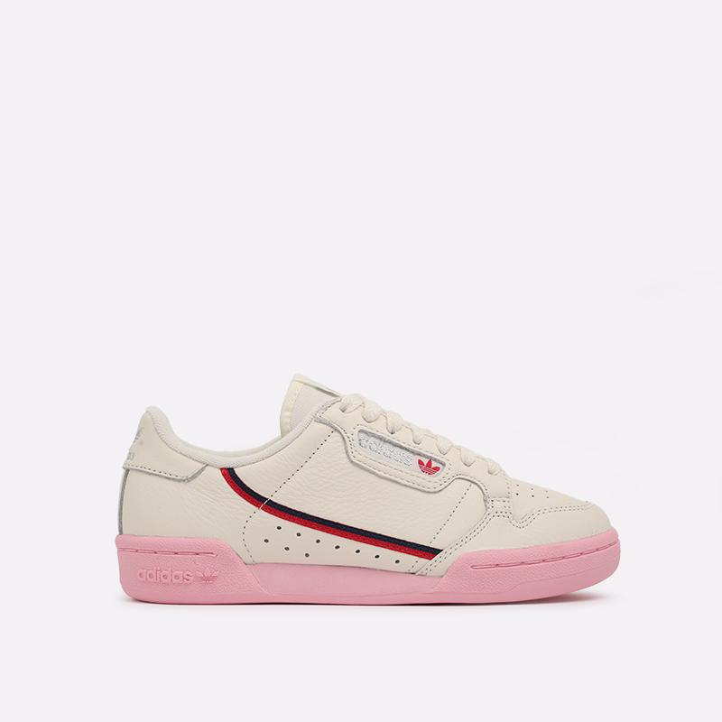 бежевые  кроссовки adidas continental 80 w EG6729 - цена, описание, фото 1
