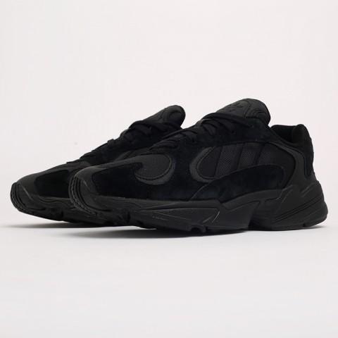 мужские чёрные  кроссовки adidas yung-1 G27026 - цена, описание, фото 2