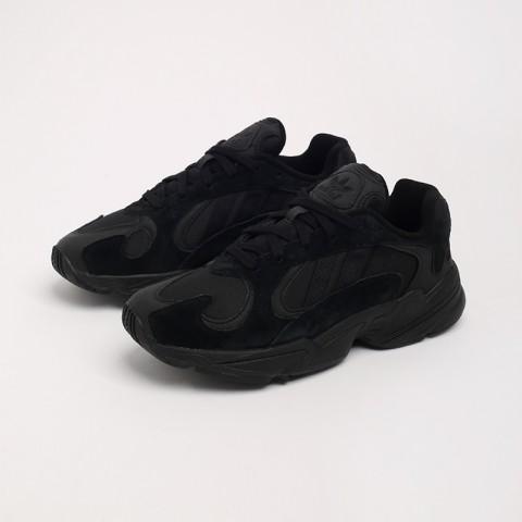 мужские чёрные  кроссовки adidas yung-1 G27026 - цена, описание, фото 5