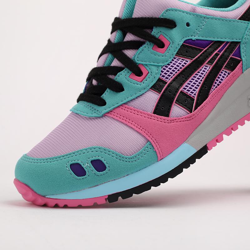 мужские разноцветные  кроссовки asics gel-lyte iii og 1201A051-500 - цена, описание, фото 7