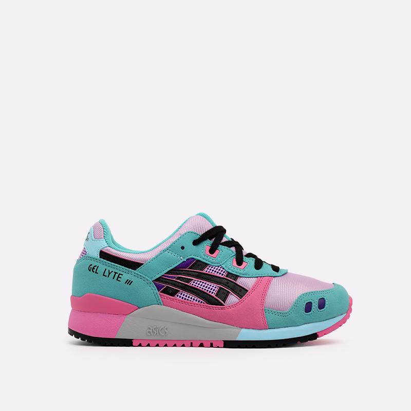 мужские разноцветные  кроссовки asics gel-lyte iii og 1201A051-500 - цена, описание, фото 1