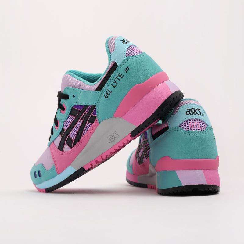 мужские разноцветные  кроссовки asics gel-lyte iii og 1201A051-500 - цена, описание, фото 4