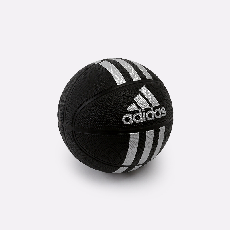 чёрный  мяч №3 adidas 3-stripes mini X53045 - цена, описание, фото 1