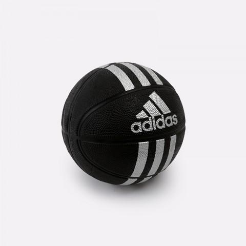чёрный  мяч №3 adidas 3-stripes mini X53045 - цена, описание, фото 1