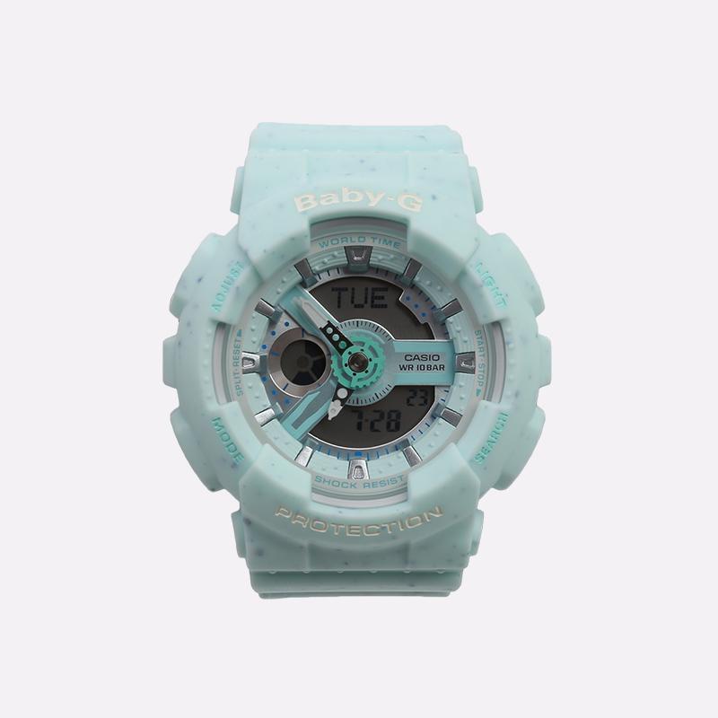 голубые  часы casio ba-110pi BA-110PI-2AER - цена, описание, фото 1