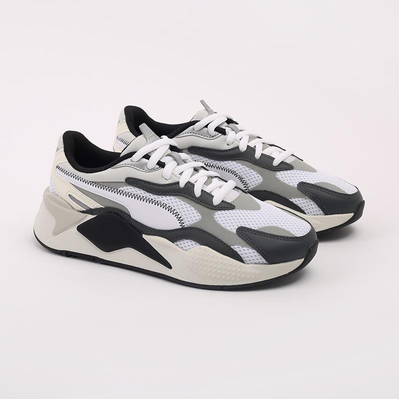 мужские белые  кроссовки puma rs-x3 millenium 37323607 - цена, описание, фото 3