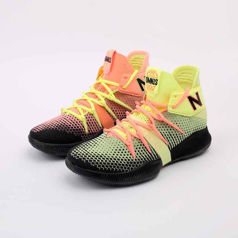 мужские чёрные, розовые, жёлтые  кроссовки new balance x kawhi leonard omn1s sunrise BBOMNXA2/D - цена, описание, фото 4