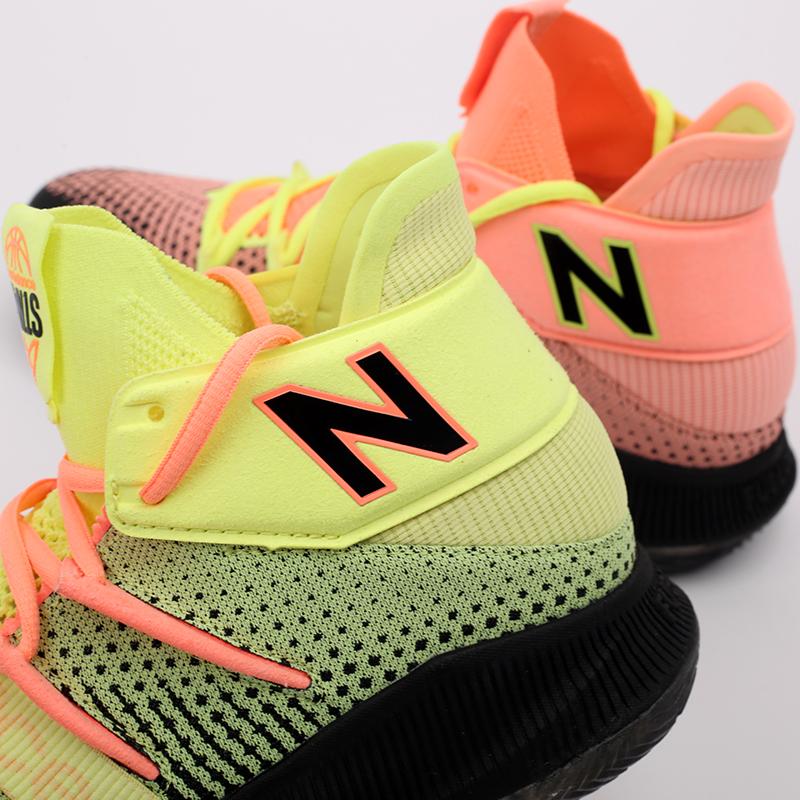 мужские чёрные, розовые, жёлтые  кроссовки new balance x kawhi leonard omn1s sunrise BBOMNXA2/D - цена, описание, фото 8