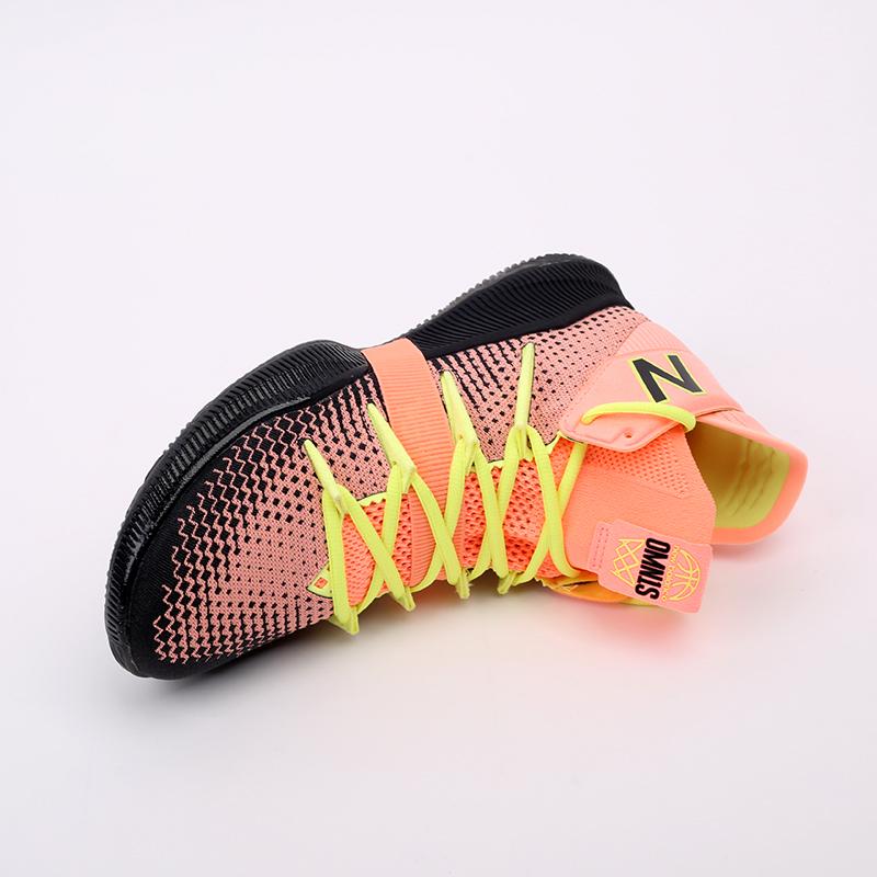 мужские чёрные, розовые, жёлтые  кроссовки new balance x kawhi leonard omn1s sunrise BBOMNXA2/D - цена, описание, фото 6