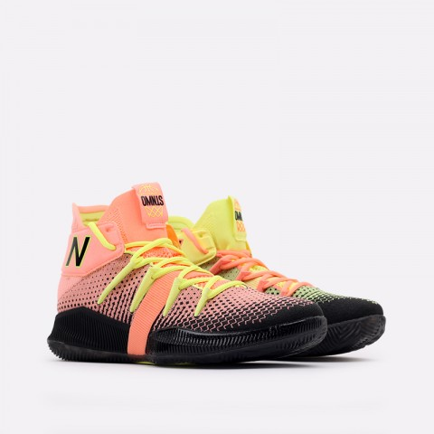 мужские чёрные, розовые, жёлтые  кроссовки new balance x kawhi leonard omn1s sunrise BBOMNXA2/D - цена, описание, фото 1
