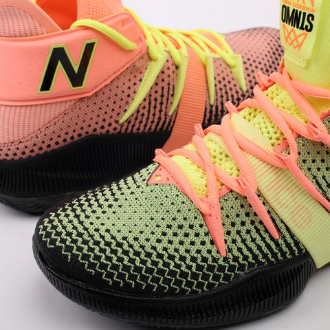 мужские чёрные, розовые, жёлтые  кроссовки new balance x kawhi leonard omn1s sunrise BBOMNXA2/D - цена, описание, фото 7