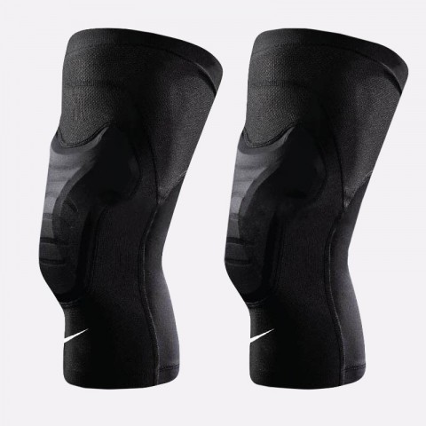 черные  наколенники nike hyperstrong padded knee sleeves NKS03010 - цена, описание, фото 1