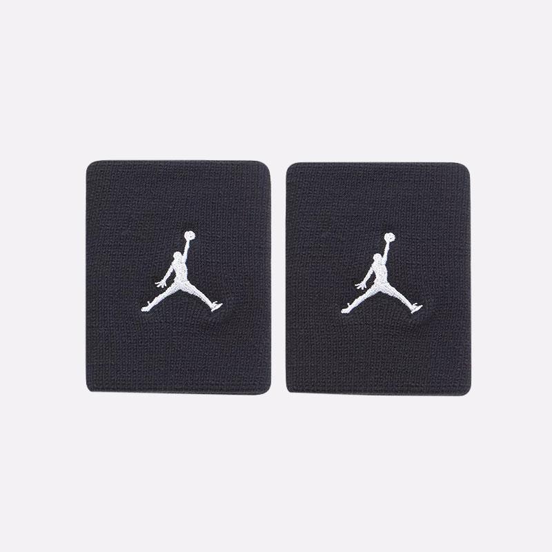 черные  напульсники jordan wristbands JKN01010 - цена, описание, фото 1