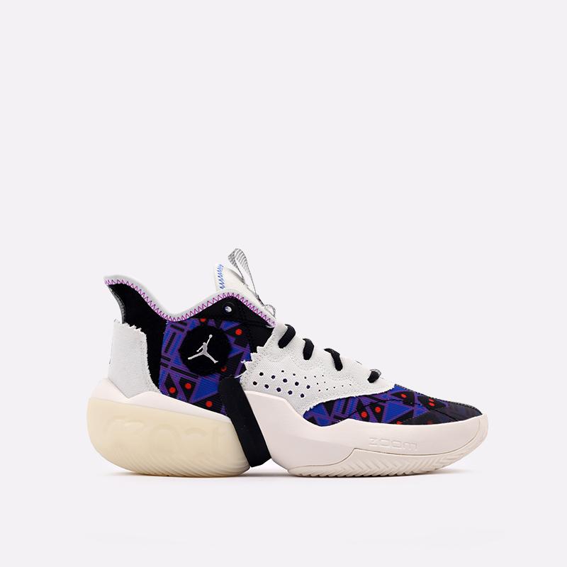 мужские разноцветные  кроссовки jordan react elevation q54 CZ4156-100 - цена, описание, фото 1